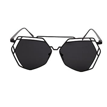 Z&YQ Polygonal lunettes de soleil hommes et femmes marée rond face à long visage personnalité rétro grand cadre lunettes de soleil , golden frame cherry blossom powder