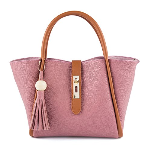 UNYU Shopping Totes - Bolso de tela para mujer Rosa