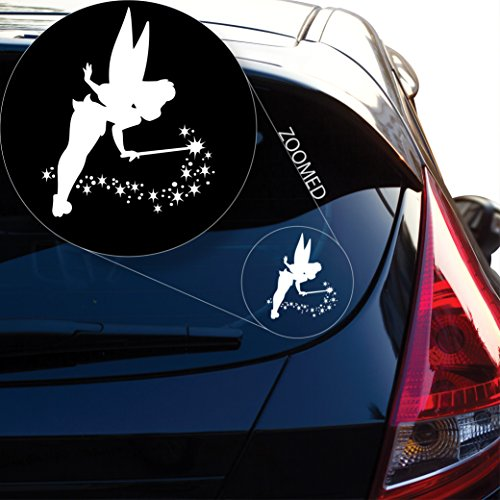 Yoonek Graphics Tinkerbell Decal Sticker for Car Window, Laptop, Motorcycle, Walls, Mirror and More. # 539 (6