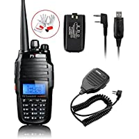 TYT TH-UV8000D 10W Amateur Handheld Transceiver, Dual Band, Dual Display and Dual Stand + Original Battery + USB Program Cable + BaoFeng Handheld BF-S112 Two Way Radio Speaker Kit