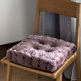 YXDDG Seat Chair Cushion Square Cotton Chair Cushion Suitable for Office, Study, Dining Room, Living Room, Student, 4 Colors-Purple 40x40x8cm(16x16x3)