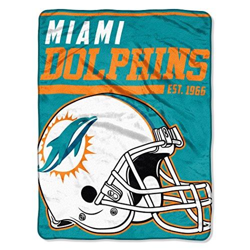 NFL Miami Dolphins 40 Yard Dash Micro Raschel Throw, 46
