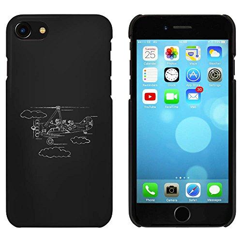 Noir 'Avion avec un Passager pour Chien' étui / housse pour iPhone 7 (MC00061585)