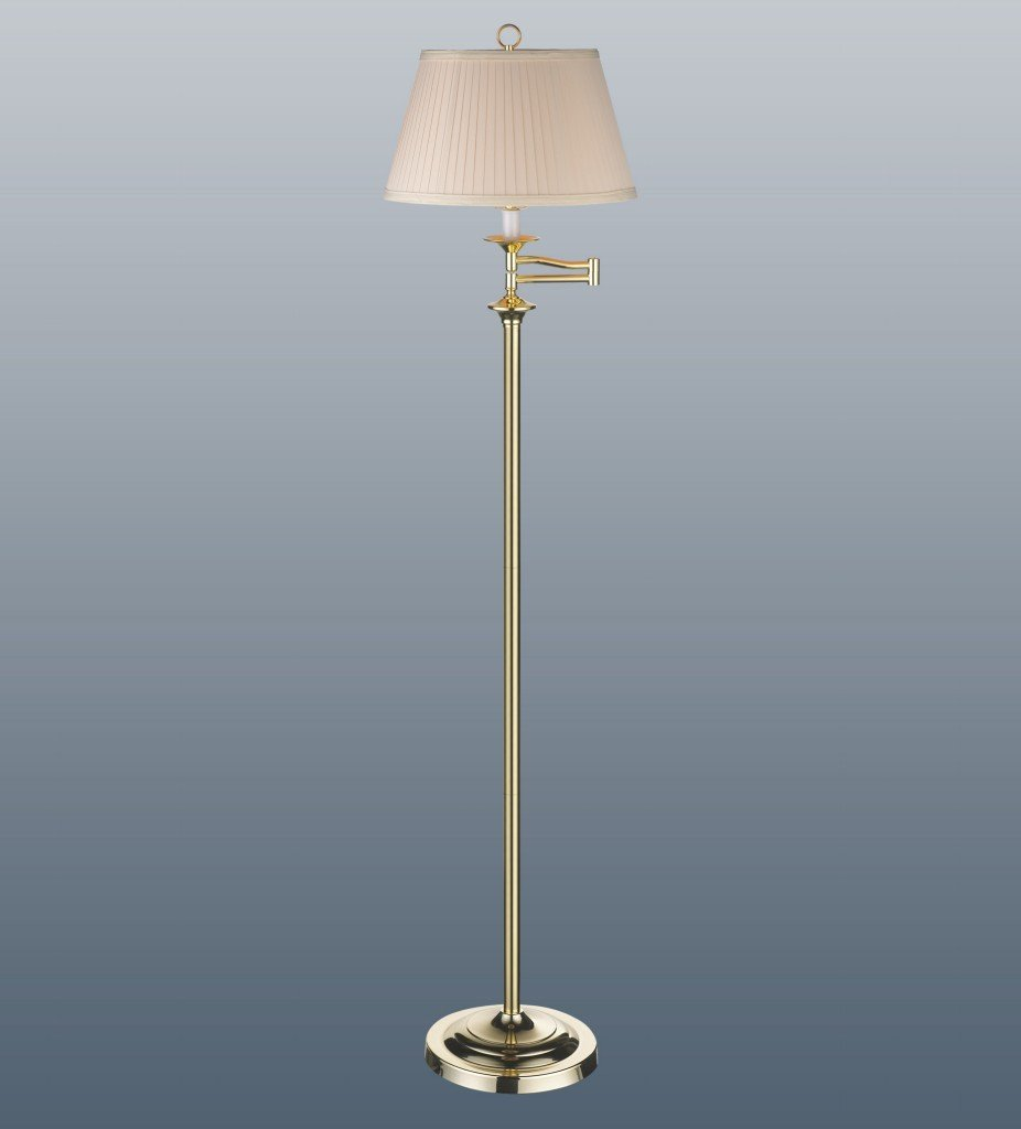 Wentworth Polished Brass Swing Arm Floor Lamp: Amazon.co.uk: Lighting