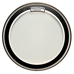 """A clear, single ply, medium weight bass drumhead. The super-kick series features Aquarian's patented """"floating muffling system"""". A narrow felt muffle ring is attached to the backside of the Drumhead to produce a low-end, well-defined punchy s..."""