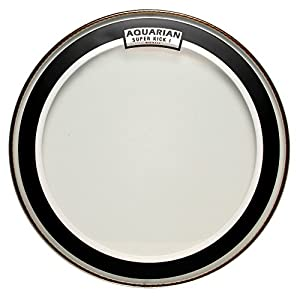 aquarian drumheads ski16 super kick i single ply 16 inch bass drum head musical. Black Bedroom Furniture Sets. Home Design Ideas