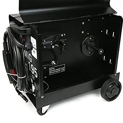 9TRADING 195 AMP DUAL MIG-195 230V Flux Core Auto Wire Welding Machine No Gas Welder, Free Tax, Delivered within 10 days