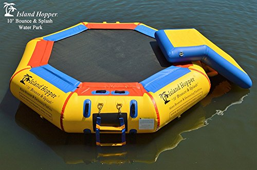 Island Hopper 10' Bounce N Splash Water Park with Bouncer Slide
