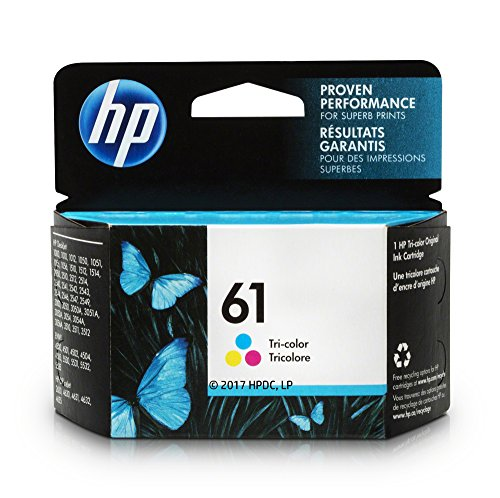 HP 61 Ink Cartridge, Tri-color (CH562WN) for HP Deskjet 1000 1010 1012 1050 1051 1055 1056 1510 1512 1514 1051...