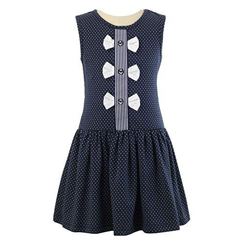 Rachel Riley Sleeveless Bow Front Jersey Dress