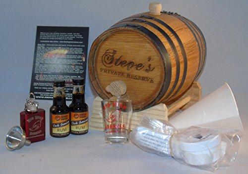 (2 Liter Custom Engraved American White Oak Rum Flavoring Gift Set (Jamaican Rum))