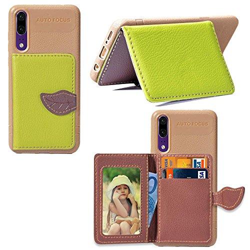 Mince Porte Carte cuir Housse P20 PU Artfeel Lite Rouge en Huawei Cr avec Coque Portefeuille O47vFwq