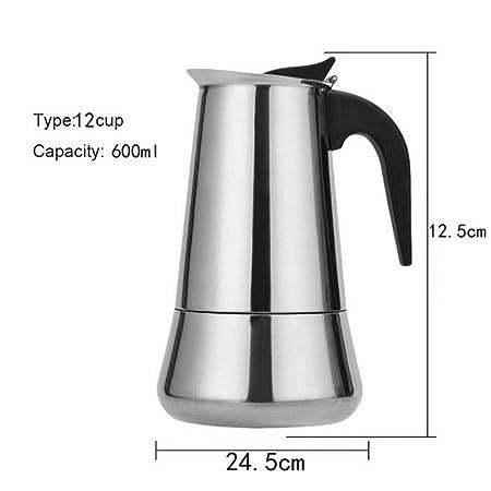 XATAKJJ Acero Inoxidable Moka expreso cafetera Capacidad de la ...
