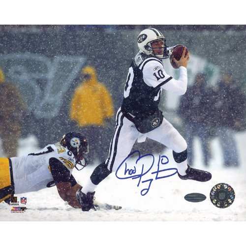 Pennington Autograph (Steiner Sports NFL New York Jets Chad Pennington Snow Run vs. Steelers 16x20 Photograph)