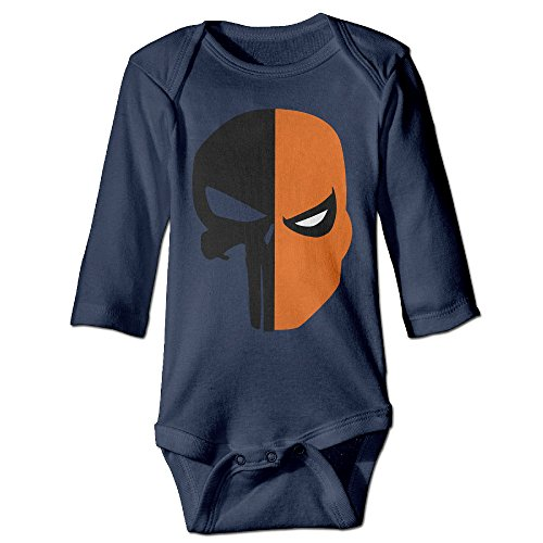 Kids Baby Deathstroke Punisher Skull Face Mask Long-sleeve Romper Jumpsuit Navy (Skull Sock Mask)
