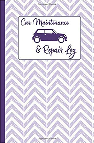Car Maintenance & Repair Log: Purple Chevron - Automobile