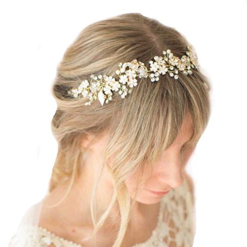Missgrace Crystal Bridal Headband Wedding Hair Accessories-Rhinestone Jewelry Headdress