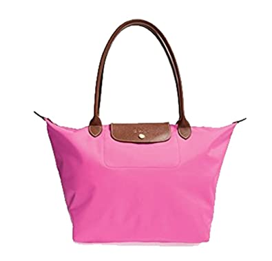 b8847790a965 Amazon.com  Longchamp Le Pliage Long Handle Tote Bag Large Bubble Pink  Authentic New  Shoes