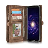 Galaxy Note 9 Case,Miya Premium PU Leather Wallet Case with ID Card Holder Flip Cover Case [Magnetic Closure] Detachable Zipper Pouch Case for Samsung Galaxy Note 9 (2018 Release) - Light Brown