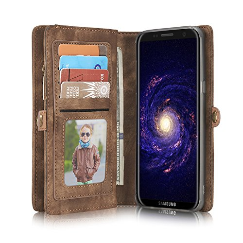 Galaxy Note 9 Case,Miya Premium PU Leather Wallet Case with ID Card Holder Flip Cover Case [Magnetic Closure] Detachable Zipper Pouch Case for Samsung Galaxy Note 9 (2018 Release) - Light Brown by MIYA LTD (Image #7)