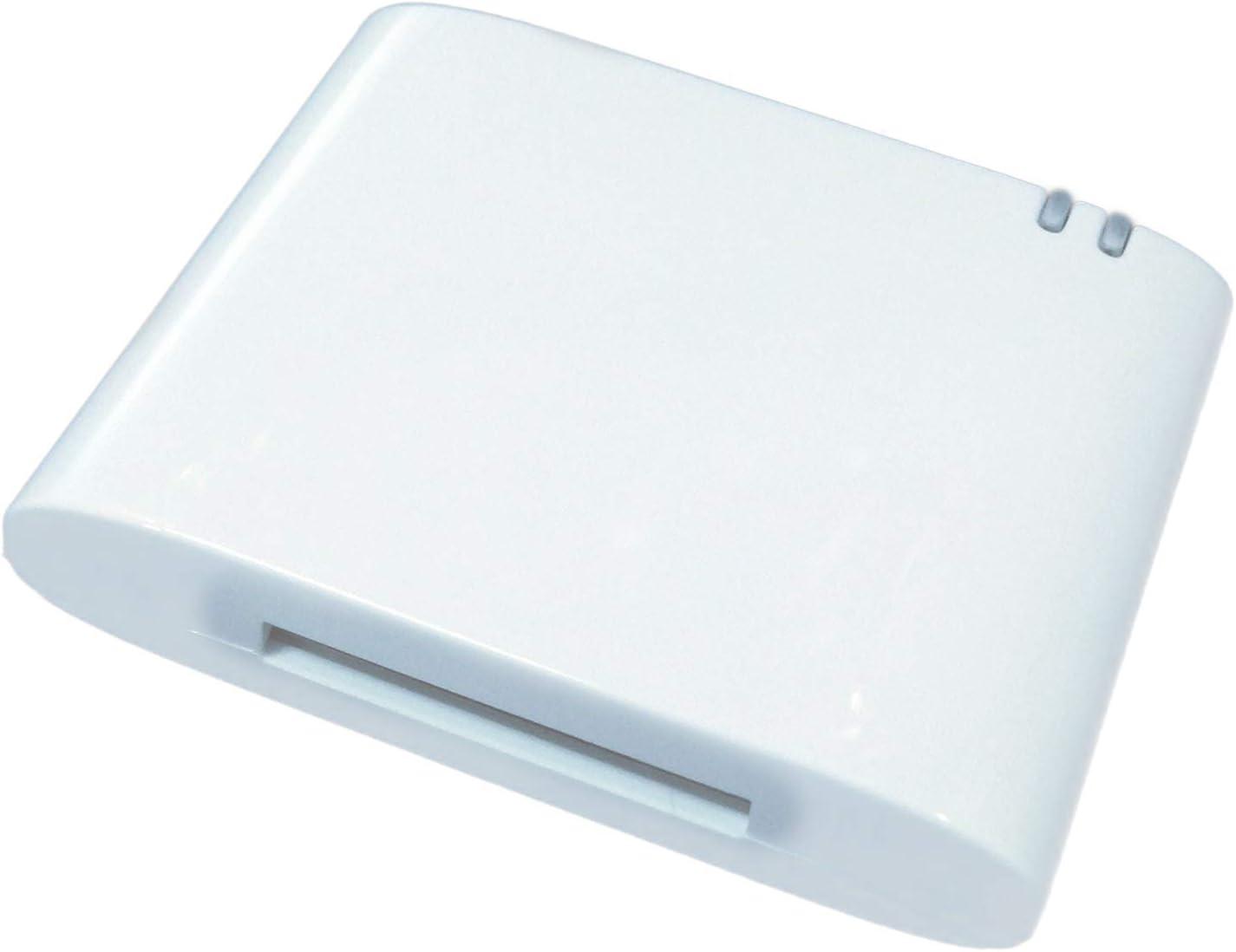 TOOGOO Adaptador Bluetooth 4.1 DE 30 Pines Receptor de Musica de Audio A2DP para Bose Sounddock y Altavoz de Base iPod iPhone DE 30 Pines (No es Compatible con ningun Coche) (Blanco)