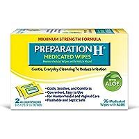 Preparación H Toallitas para rellenar, medicadas, 48 unidades (paquete de 2)