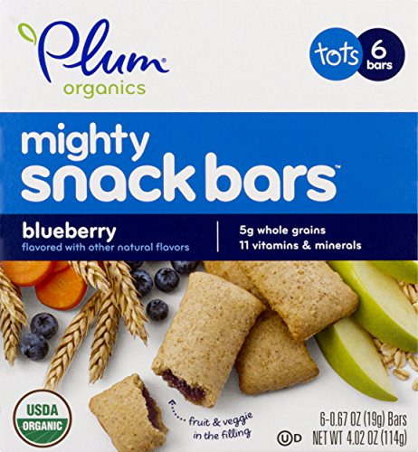Plum Organics Mighty 4 Essential Nutrition Bars, Blueberry with Carrot, 0.67 Ounce, 6 Count