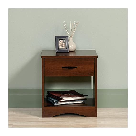 Sauder Beginnings Nightstand, Brook Cherry -  - bedroom-furniture, nightstands, bedroom - 51PJoT1hGmL. SS570  -