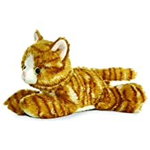 "Molly Orange Tabby Cat 8"" Mini Flopsie Stuffed Animal"