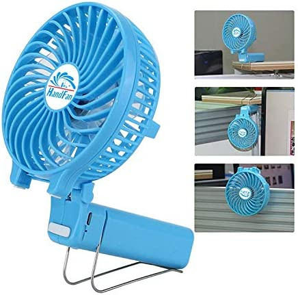 Qiyage The New 2019 Mini Handheld Fan Multi-Purpose Folding Portable Electric Fan Outdoor Fan Clip Fan Desktop Fan Black
