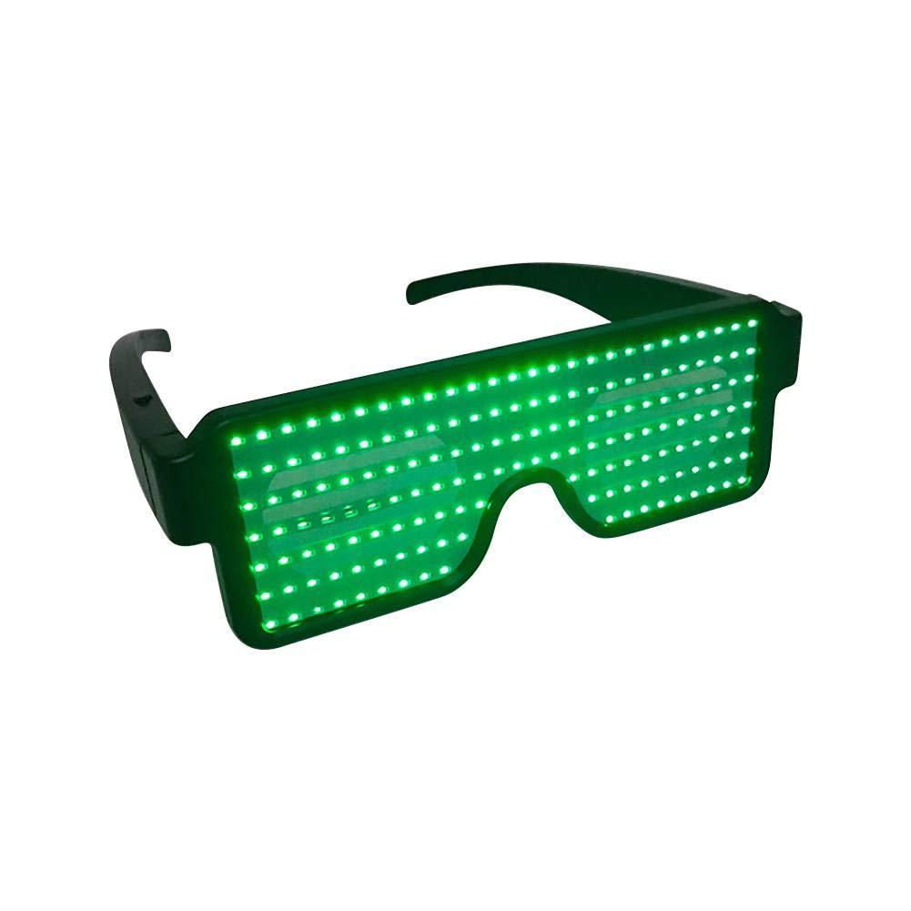 8d357b6c6f Neon Iluminar Gafas con 8 Modos para Fiesta de Cumpleaños de Navidad Neon  Iluminar Gafas con ...