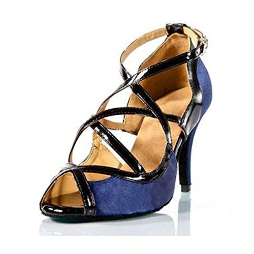 de de Correa de BYLE Onecolor Latino Zapatos Cuero Adultos de Tobillo Jazz Azul América Samba Verano Zapatos Modern Baile de Zapatos de Baile Zapatos Baile Sandalias p8UqUxCw56