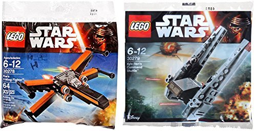 Lego Star Wars Kylo Ren's Command Shuttle & Poe's X- Wing Fighter Starship set - Polybag 30279 + 30278 edition Building -