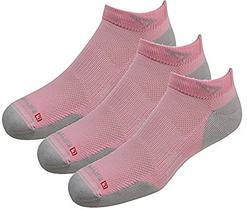Drymax Socks Run Lite-Mesh Mini Crew - Pink/Gray W10-12, M8.5-10.5 - 3 Pack