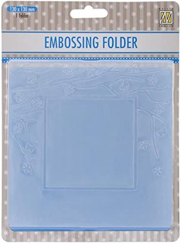 Square Frame with Square Opening 5-Inch by 5-Inch Ecstasy Crafts Nellies Choice Spring in The Air Embossing Folder
