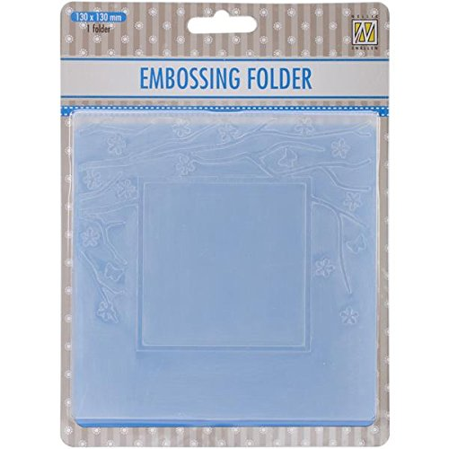 (Ecstasy Crafts Nellie's Choice Spring in The Air Embossing Folder, 5-Inch by 5-Inch, Square Frame with Square Opening)