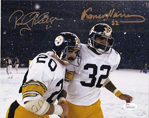 FRANCO HARRIS/ROCKY BLEIER PITTSBURGH STEELERS AUTHENTICATED SIGNED 8x10 - JSA Certified - Autographed NFL Photos