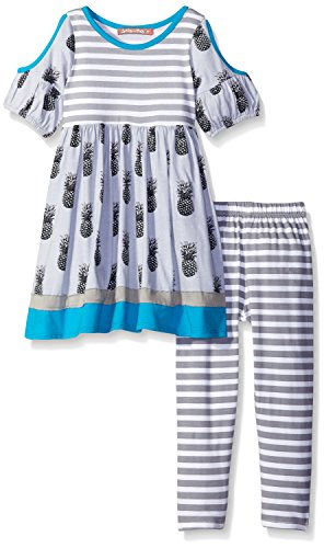 Jelly The Pug Little Girls' Toddler Sydney Pineapple Parfait Knit Set, Multi, 2T
