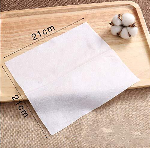 OUGEER Almohadilla algodón 100% suave,toallita de algodón no tejida descartable desechable, toalla de algodón no tejida, toalla desechable multiusos, ...