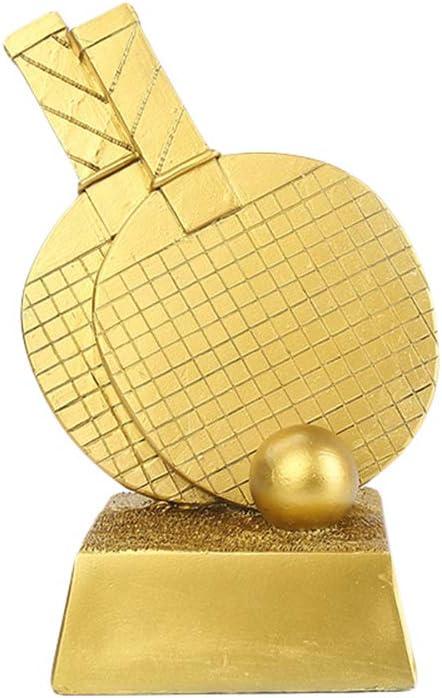 DYYPPWW Trofeo-Tenis de Mesa Trofeo de Oro, Plata y Bronce, artesanía de Resina, Trofeo de Campeonato, 25 cm de Alto-Gold