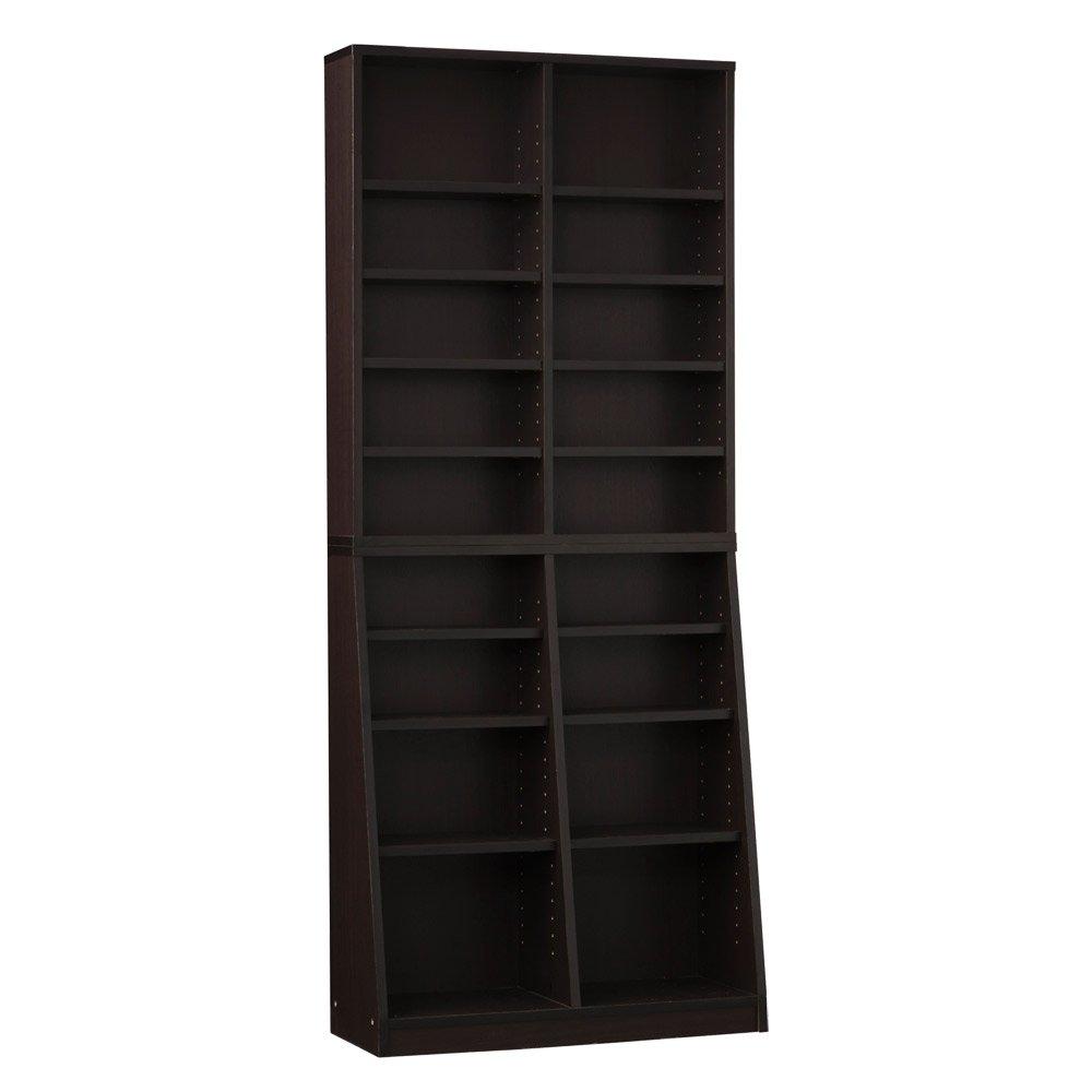 クロシオ SOHO書棚 W75 ブラウン 幅75cm高180cm 本棚 シェルフ B007BK7ZZK ブラウン