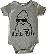 CHUBS Crib Life, Unisex Baby Gift, 0-6M Onesie, 6-12M Onesie, Funny Baby Shower Gifts
