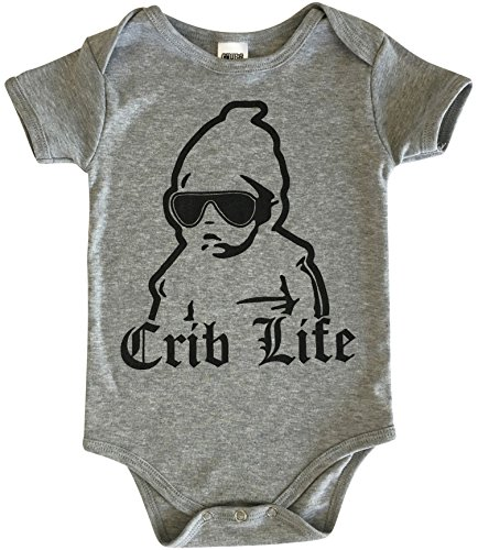 CHUBS Crib Life, Unisex Baby Gift, 0 6M Onesie, 6 12M Onesie, Funny Baby  Shower Gifts