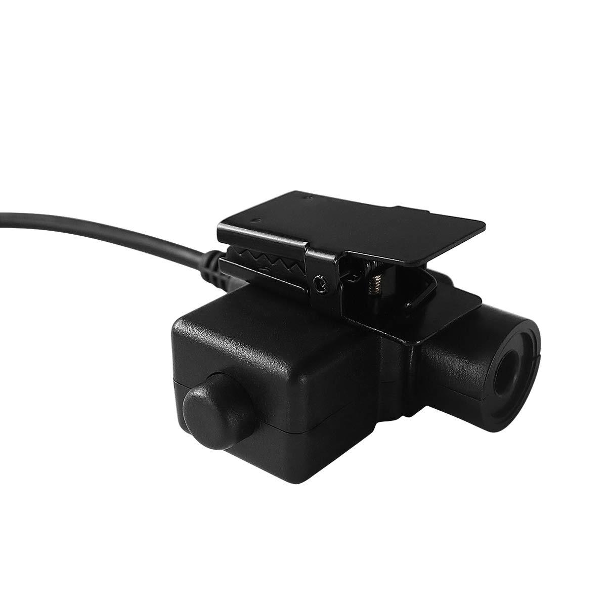 TAC-SKY U94 PTT Headset System Adapter for Motorola 2-Way Radio 2 Pin