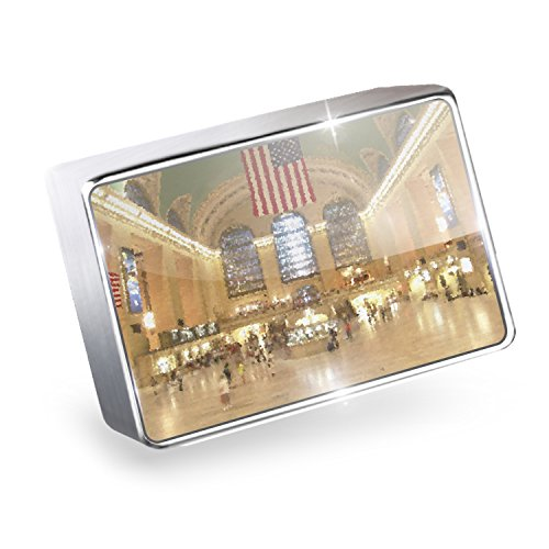 Floating Charm Grand Central Station, New York, NYC Fits Glass Lockets, - Glasses Central Grand