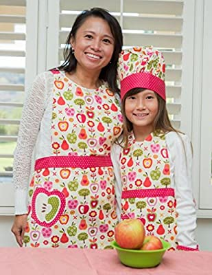 Handstand Kitchen Mother and Daughter 'An Apple a Day' Apron Set