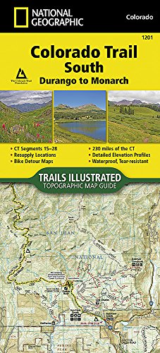 Colorado Trail South, Durango to Monarch (National Geographic Trails Illustrated Map)