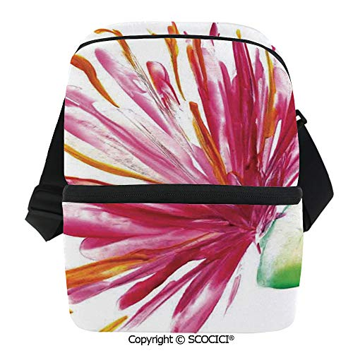 SCOCICI Collapsible Cooler Bag Opened Out Asiatic Oriental Lily Freesia Florets Home Art Insulated Soft Lunch Leakproof Cooler Bag for Camping,Picnic,BBQ