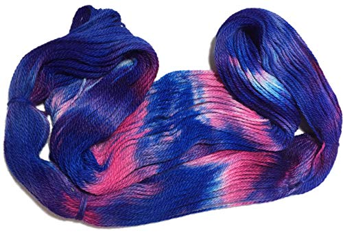 Artisan Yarns Hand Dyed Baby Alpaca Yarn, Hand Painted: Sailors Delight, Dk Weight, 80 Grams, 200 Yards, 100% Baby Alpaca