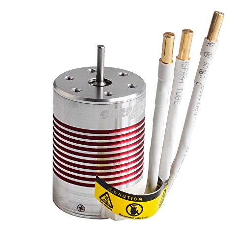 Jrelecs 3650 3100KV RC Brushless Motor 4 Pole Sensorless Waterproof 3.175mm Shaft for 1/10 1:10 Scale RC Car HSP 94123,HuanQi 727,FS Racing 53625/53632